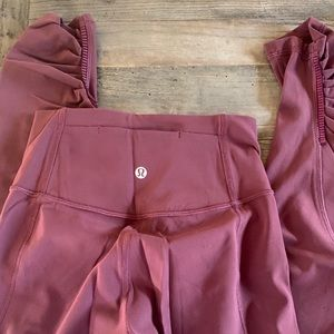 Lululemon cranberry red color. Size 2